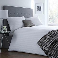 J by Jasper Conran - Designer white sateen striped bed linen