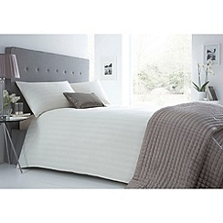 J by Jasper Conran - Designer cream sateen striped bed linen