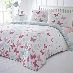 Debenhams - Aqua 'Anna' butterfly bedding set