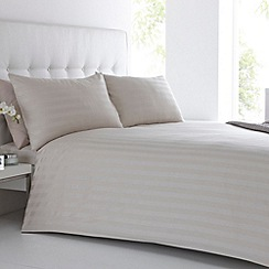 J by Jasper Conran - Designer natural 'Sateen Stripe' bedding set