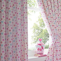 bluezoo - Kid's pink floral printed curtains