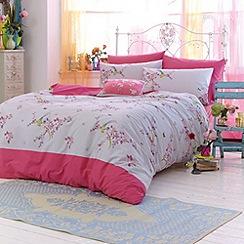 Accessorize - Pink 'Oriental Birds' bedding set