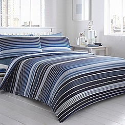 Debenhams - Blue striped 'Clifton' bedding set