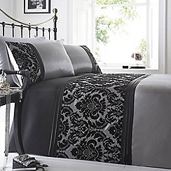 Debenhams - Silver flocked 'Chester' bedding set