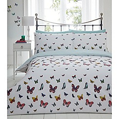 Debenhams - Multicoloured 'Cassidy Butterfly' bedding set
