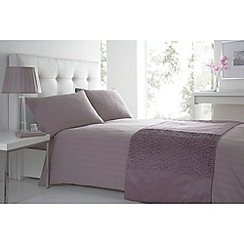 J by Jasper Conran - Lilac 'Sateen Stripe' bedding set
