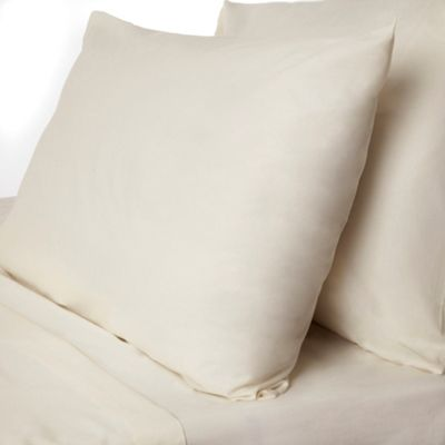 Cream Dorma pure cotton fitted sheet set - . -
