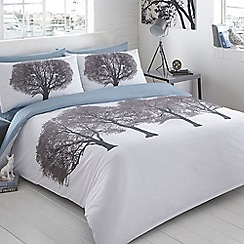 Ben de Lisi Home - White printed 'Trees' bedding set
