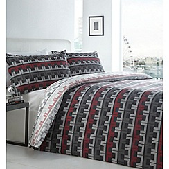 Debenhams - Black 'Chains' bedding set