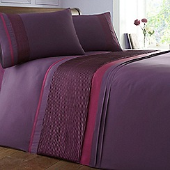 Debenhams - Plum 'Veronica' bedding set