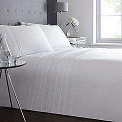 Debenhams - White 'Clara Pleat' bedding set
