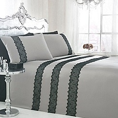 Star by Julien MacDonald - Grey 'Lacey' bedding set