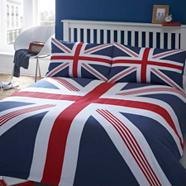 Blue 'Union Jack' bed linen