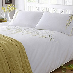 Debenhams - Yellow 'Wisteria' bed linen