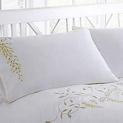 Debenhams - Yellow 'Wisteria' pillow case pair