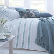 Light blue 'Finchley' bed linen