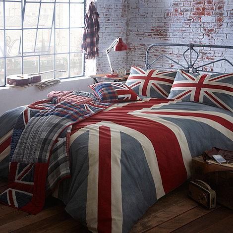 Debenhams - Grey +Vintage Union Jack+ bed linen