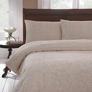 Gold 'Diana' damask bed linen
