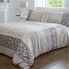 Debenhams - Natural 'Leila' leaf bed linen