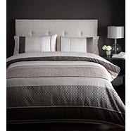 Chocolate 'Sophia' bed linen