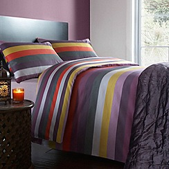 Debenhams - Purple 'Wallace Stripe' bed linen