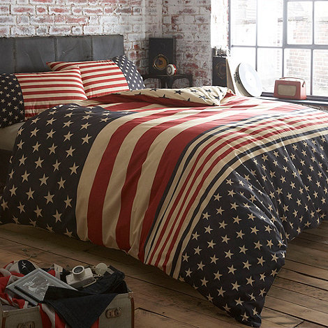Debenhams - Navy +Stars and Stripes+ bed linen