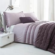 Lilac 'Boston Pleat' bed linen