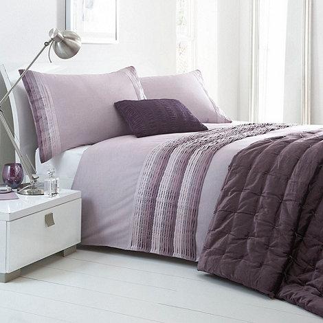 Debenhams - Lilac +Boston Pleat+ bed linen