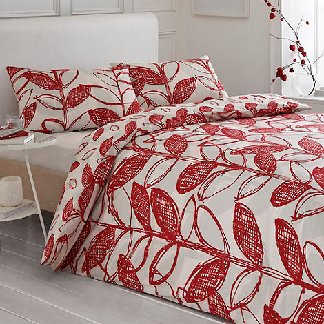 Debenhams - Red +Delamere+ bed linen
