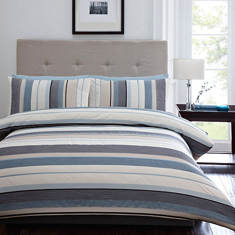 Debenhams - Blue 'Waven' bed linen