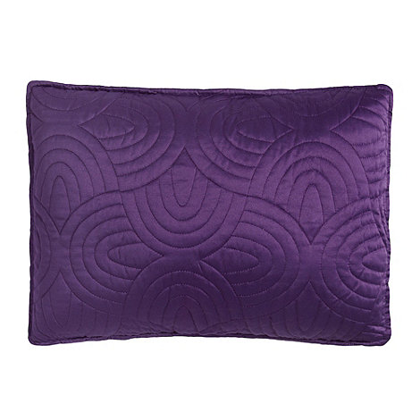 Debenhams - Dark purple 30x40cm 'Sacha' cushion