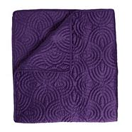 Dark purple 110x220cm 'Sacha' throw