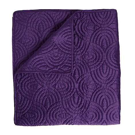 Debenhams - Dark purple 110x220cm +Sacha+ throw