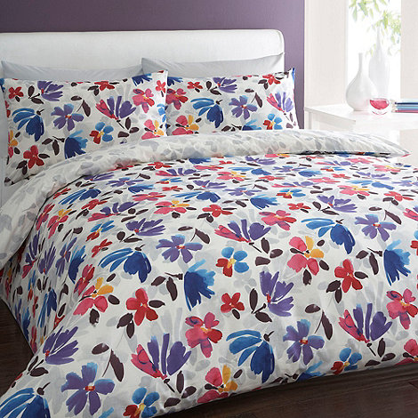 Debenhams - White +Romilly+ floral bedding set