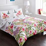 White 'Hummingbird' bedding set