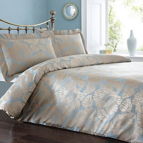 Debenhams - Blue and gold +Bonnie+ bedding set