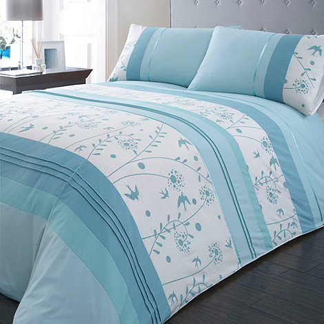 Debenhams - Blue +Faith+ floral bedding set
