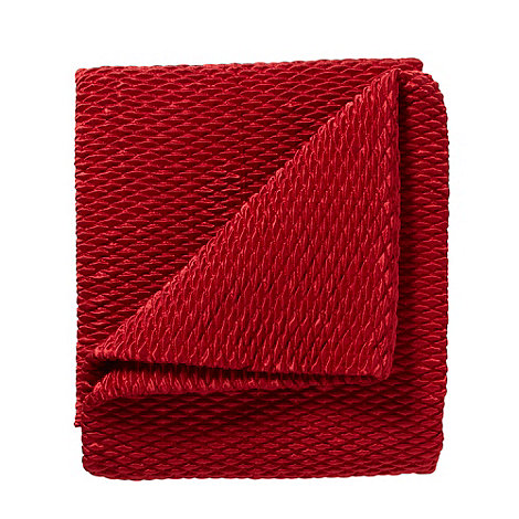 Debenhams - Red quilted satin throw