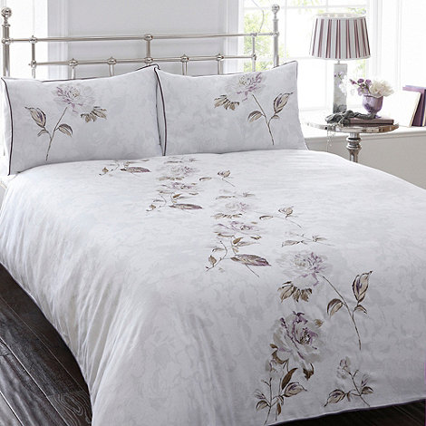 Debenhams - White floral 'Sienna' bedding set