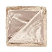 Fawn faux fur throw