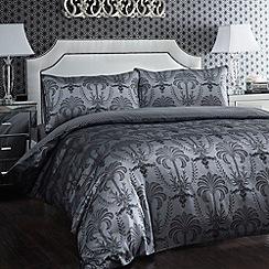 Debenhams - Silver 'Regency' jacquard satin bed linen