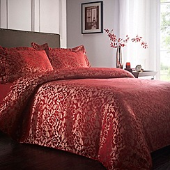 Debenhams - Red 'Lucille' floral pattern bedding set