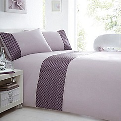 Debenhams - Purple 'Seattle' bedding set