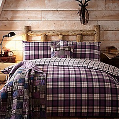Home Collection - Purple 'Leah' brushed cotton flannelette bedding set