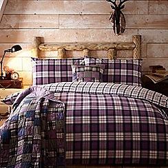 Home Collection - Purple 'Leah' brushed cotton flannelette bedding set