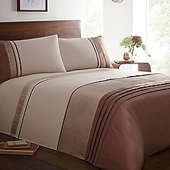 Home Collection - Natural 'Nepal' satin trim bedding set