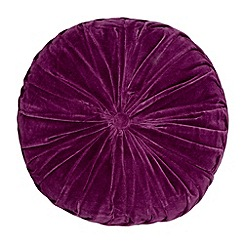 Home Collection - Purple round velvet cushion