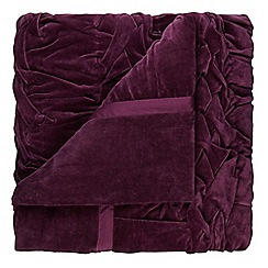 Home Collection - Purple velvet throw