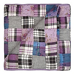 Home Collection - Purple patchwork throw