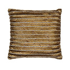 Home Collection - Small gold bugle beaded 'Hollywood' cushion